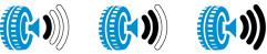 Gördülési zaj piktogramok
